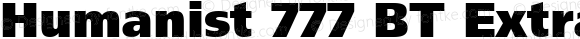 Humanist 777 BT Extra Black