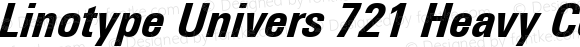 Linotype Univers 721 Heavy Condensed Italic