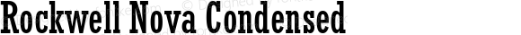 Rockwell Nova Condensed