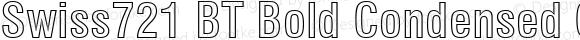 Swiss721 BT Bold Condensed Outline