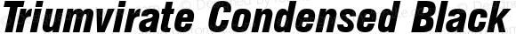 Triumvirate Condensed Black Italic