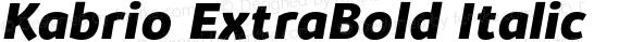 Kabrio ExtraBold Italic