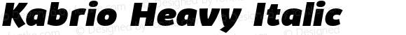 Kabrio Heavy Italic