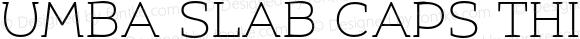 Umba Slab Caps Thin