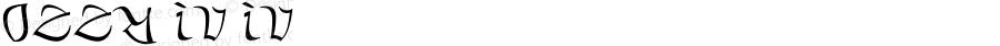 Ozzy IV IV Version 1.000;PS 001.000;hotconv 1.0.88;makeotf.lib2.5.64775