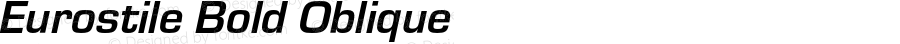 Eurostile Bold Oblique Version 1.000;PS 1.10;hotconv 1.0.57;makeotf.lib2.0.21895