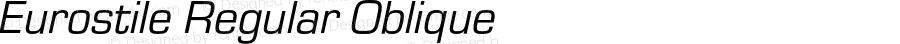 Eurostile Regular Oblique Version 1.000;PS 1.10;hotconv 1.0.57;makeotf.lib2.0.21895