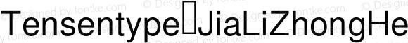Tensentype JiaLiZhongHeiJ Regular Version  1.00