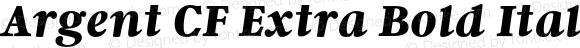 Argent CF Extra Bold Italic