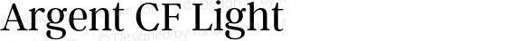 Argent CF Light Version 1.000;PS 002.000;hotconv 1.0.88;makeotf.lib2.5.64775