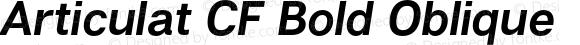 Articulat CF Bold Oblique