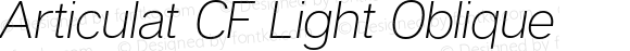 Articulat CF Light Oblique