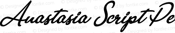 Anastasia Script Personal Use Regular Version 1.000