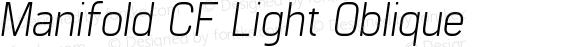 Manifold CF Light Oblique