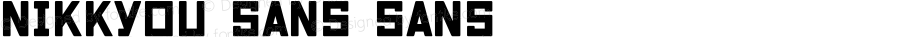 Nikkyou Sans Sans Version 001.000