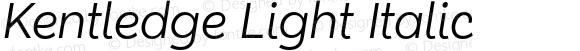 Kentledge Light Italic