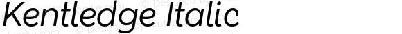Kentledge Italic