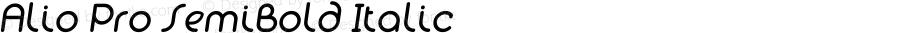 Alio Pro SemiBold Italic