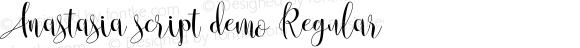 Anastasia script demo Regular Version 1.000