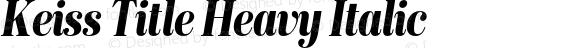 Keiss Title Heavy Italic