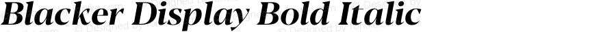 Blacker Display Bold Italic Version 1.0 | w-rip DC20180110