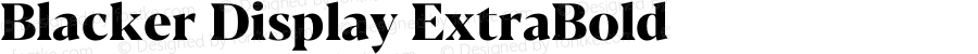 Blacker Display ExtraBold Version 1.0 | w-rip DC20180110