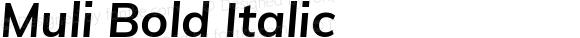 Muli Bold Italic