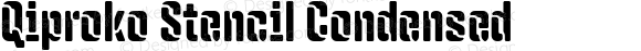 Qiproko Stencil Condensed