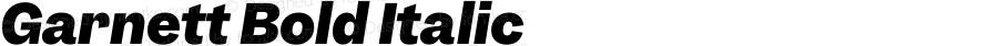 Garnett Bold Italic