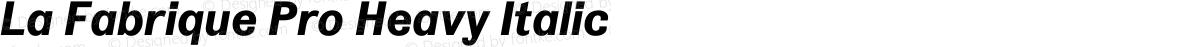La Fabrique Pro Heavy Italic