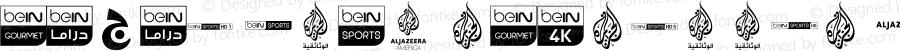 logos bein aljazeera Regular Version 1.00; 2019; elharrak fonts : https://el-harrak.blogspot.com