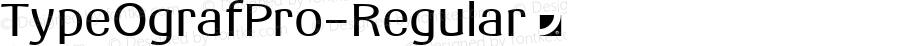 TypeOgrafPro-Regular ☞ Version 1.0 ;com.myfonts.easy.jonahfonts.typeograf-pro.regular.wfkit2.version.5cno