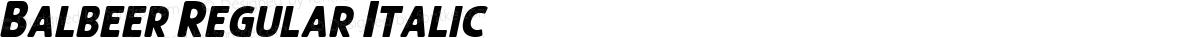 Balbeer Regular Italic