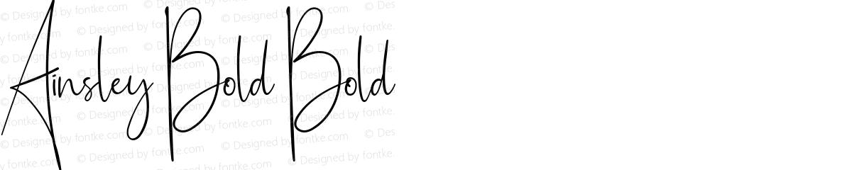 Ainsley Bold Bold