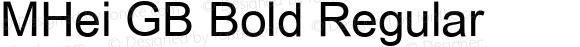 MHei GB Bold Regular