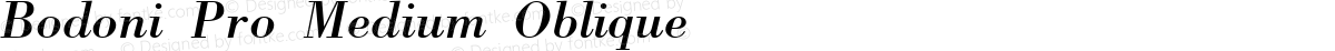 Bodoni Pro Medium Oblique