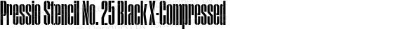 Pressio Stencil No. 25 Black X-Compressed