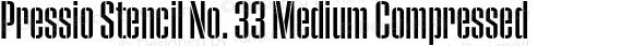 Pressio Stencil No. 33 Medium Compressed