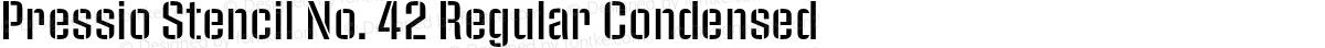 Pressio Stencil No. 42 Regular Condensed