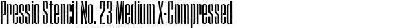 Pressio Stencil No. 23 Medium X-Compressed