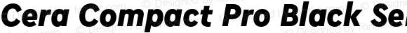 Cera Compact Pro Black SemiCondensed Italic