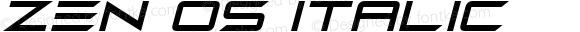 Zen Os Italic Version 1.00 November 16, 2018, initial release