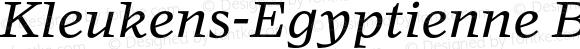 Kleukens-Egyptienne Book Italic