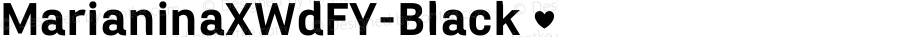 MarianinaXWdFY-Black ☞ Version 1.000;com.myfonts.easy.fontyou.marianina-extended-fy.x-wide-black.wfkit2.version.4cNK