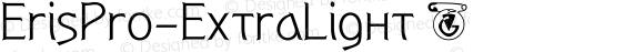 ErisPro-ExtraLight ☞ Version 1.000;com.myfonts.easy.dbsv-moulding-ideas.eris-pro.extra-light.wfkit2.version.5cYz