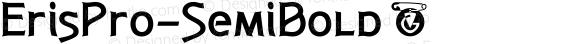 ErisPro-SemiBold ☞ Version 1.000;com.myfonts.easy.dbsv-moulding-ideas.eris-pro.semi-bold.wfkit2.version.5cYw