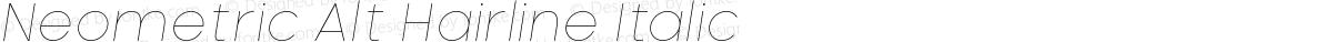 Neometric Alt Hairline Italic
