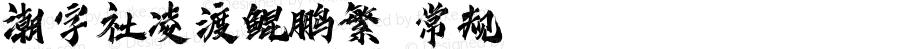 潮字社凌渡鲲鹏繁 常规 Version 1.0  www.reeji.com QQ:2770851733 Mail:Reejifont@outlook.com REEJI锐字家族 上海锐线创意设计有限公司