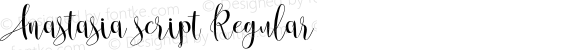 Anastasia script Regular Version 1.000