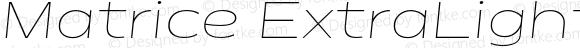 Matrice ExtraLight Italic